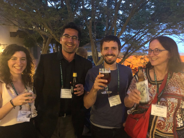 Elena Galimberti, Utkarsh Kapoor, Andrés Magán García and Andrea Barta (left to right) - Sabrina Summer unfortunately somewhere else in the crowd of RNA Scientists.