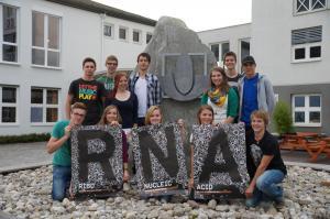 RNA-Poster in school yard HLFS Ursprung, Salzburg, Sept2012